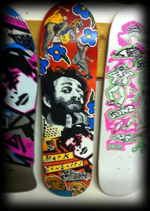 Some gonz love, middle deck was hand painted by the man himself