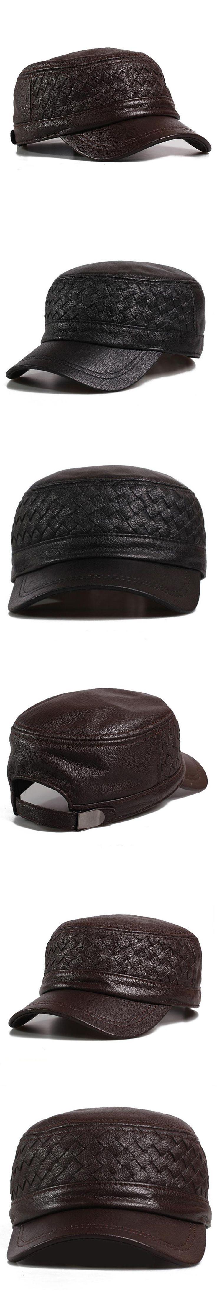 Svadilfari 2017 Winter mens leather cap warm hat Military cap with ear flaps russia flat top caps for men casquette