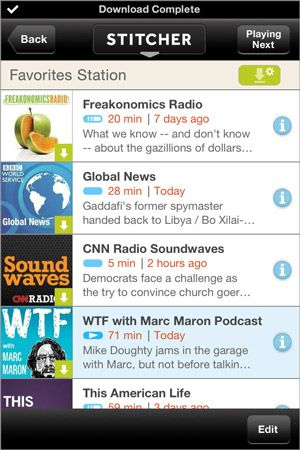 Stitcher updates its iOS podcasting app with offline mode for data-free radio