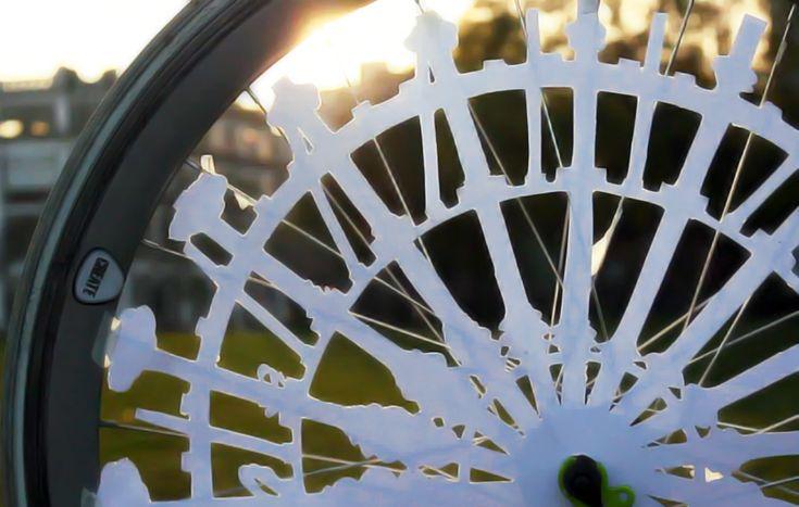 bike wheel animation by katy beveridge - designboom | architecture