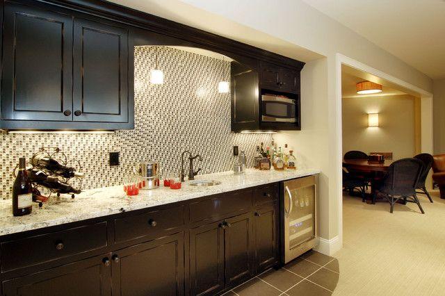 undercounter-kegerator-Basement-Traditional-with-bar-sink-basement ...