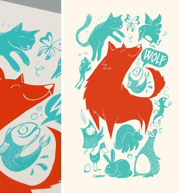 Friendly bunch of animals | Illustration by Patswerk Grafisch
