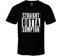 Straight Outta Compton Story Of NWA Group Movie T Shirt