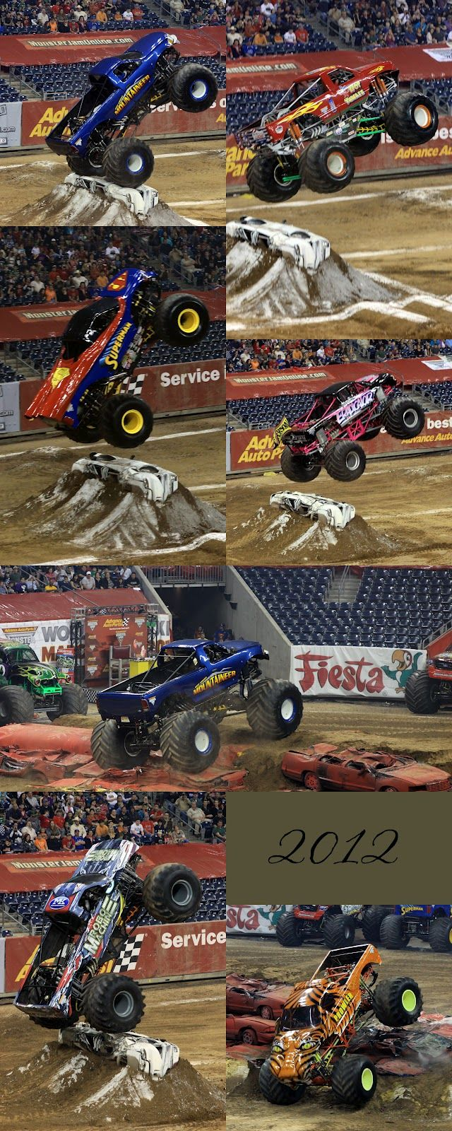 superman and more monster trucks!