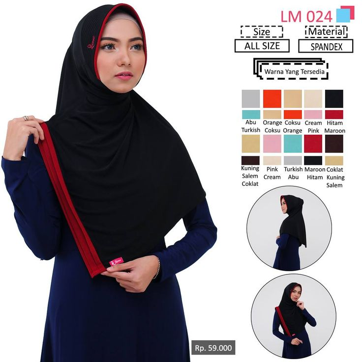 LM 024 Lamia Hijab - Kerudung Bergo Syar'i bahan kualitas premium, nyaman dipakai dan anti gerah. Material : Spandex. Size : All Size. #lamiahijab #hijabindonesia #kerudunginstan #bergo