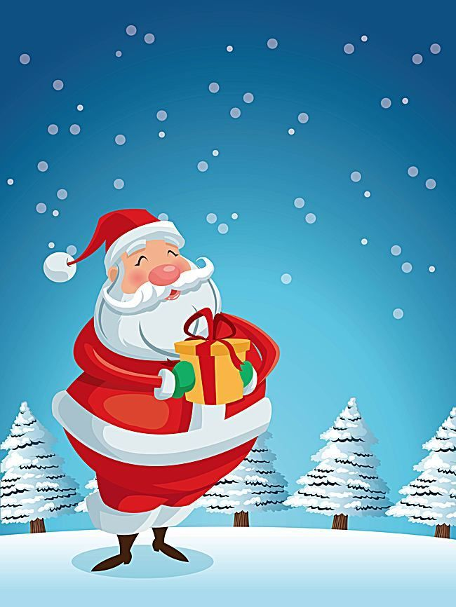Vector Background Material Christmas Santa Claus Cartoon Christmas Santa Claus Cartoon Christmas Background Images Chrismass Wallpaper Merry Christmas Background christmas cartoon wallpaper