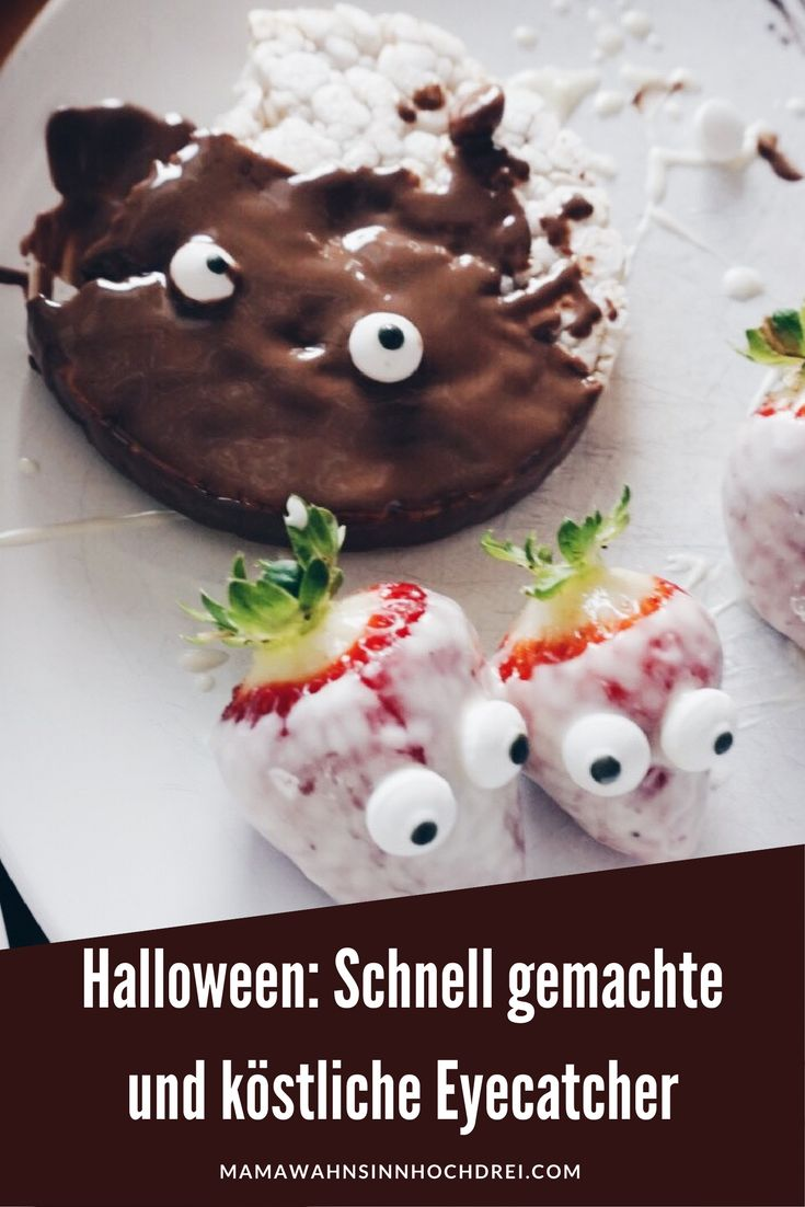 Halloween: schnell gemachte und easy Rezepte, die gleichzeitig der Eyecatcher sind . MamaWahnsinnHochDrei