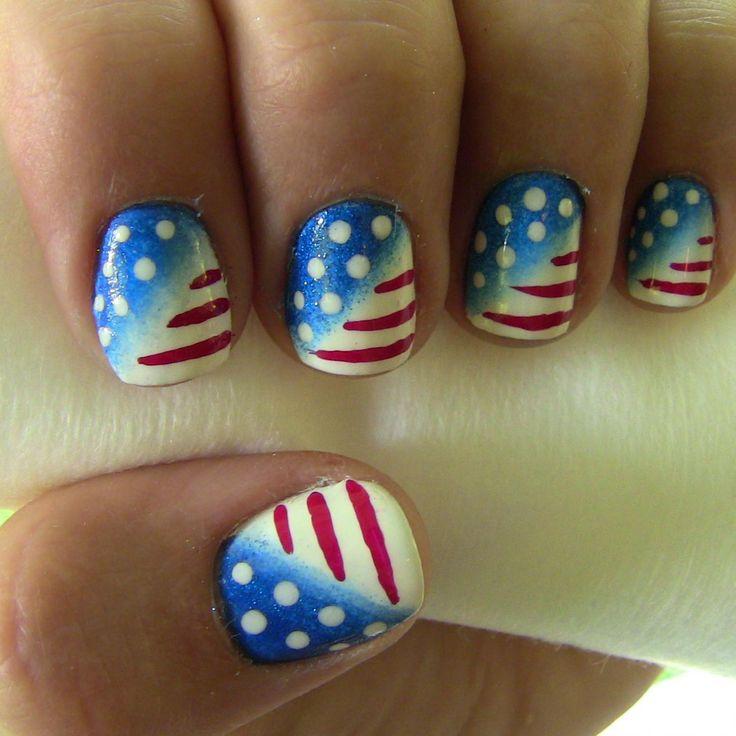 4th of july design @ http://www.divinecaroline.com/beauty/nails/4th-july-nail-art  Enjoy!