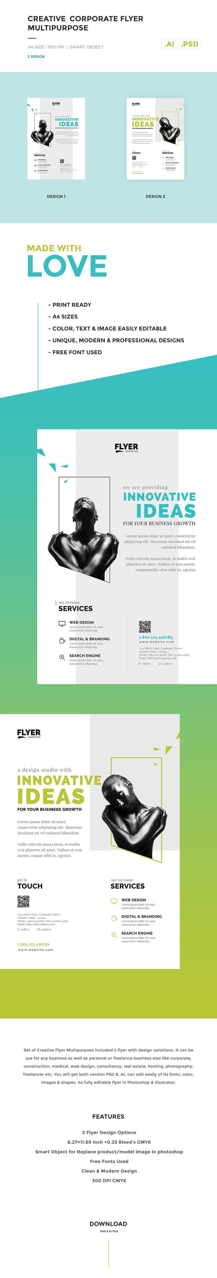 Creative / Corporate Flyer Multipurpose on Behance