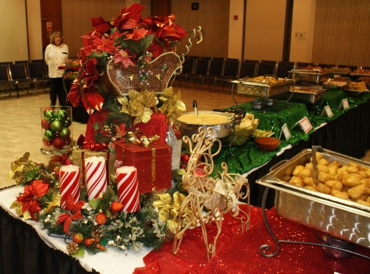 Christmas buffet table decorations pictures
