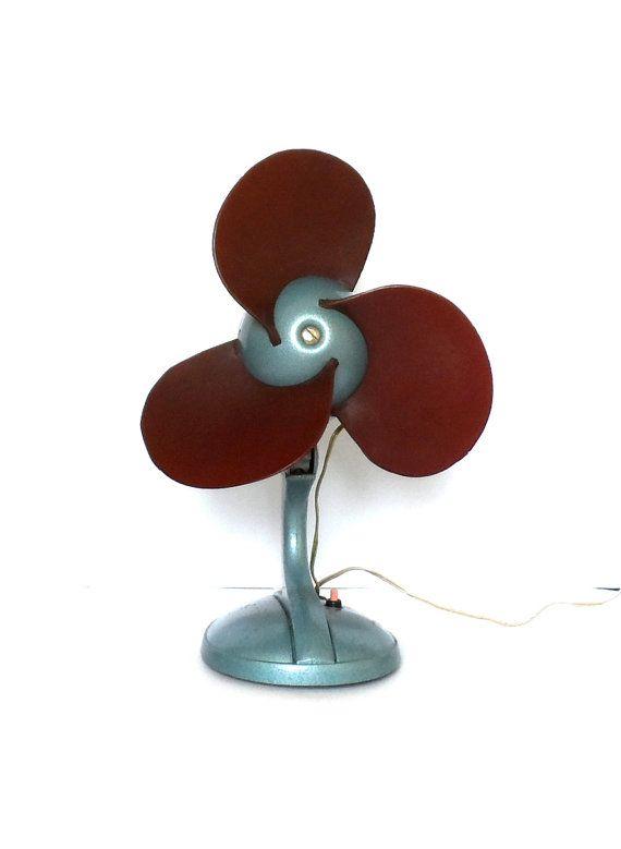 Rare vintage USSR electric fan soviet rubber blade ventilator blower