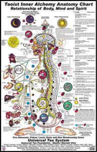 Universal Healing Tao Poster BodyMindSpirit Chart  tai chi  Traditional chinese medicine