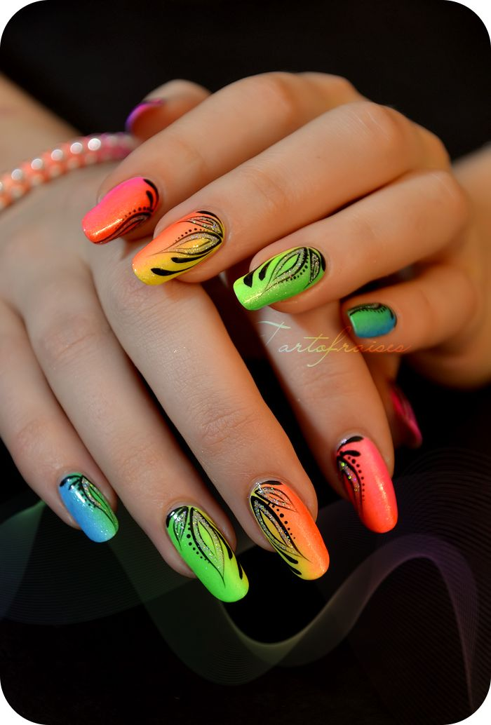 deco ongles flashy