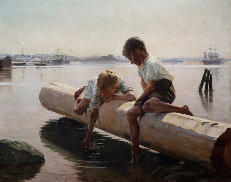 """The Little Boat"", Albert Edelfelt , Finland (1854-1905)"