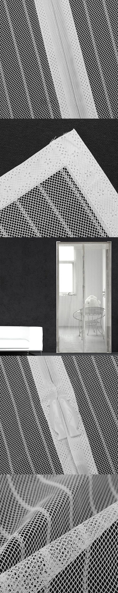 Practical Hands Free Magnetic Soft Screen Door Anti Mosquito Fly Mesh  Curtain