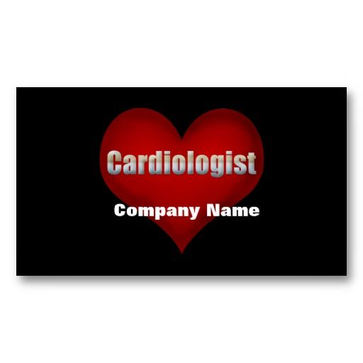Cardiologist Red Heart Business Card Template