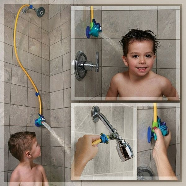 Those shorties need their own showerhead. | 36 Ingenious Things You'll Want As A New Parent