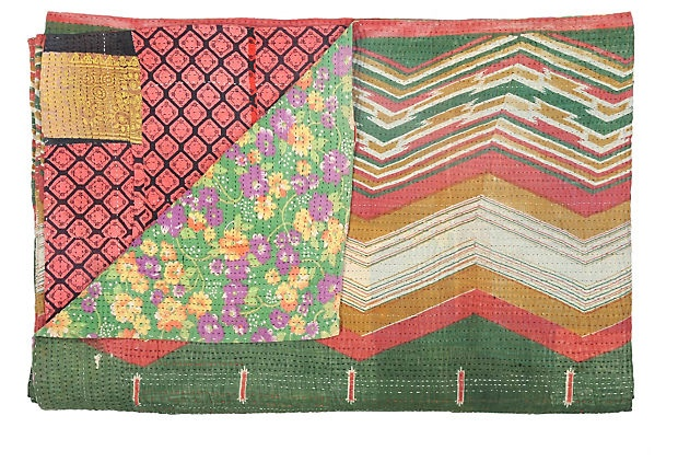 Kantha Handstitched Quilt Inspirational patterns Pinterest Quilt and Products