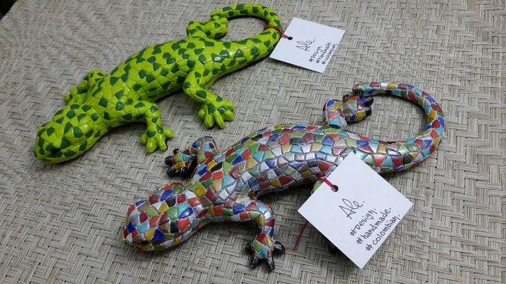 Lizards. Acrilico.