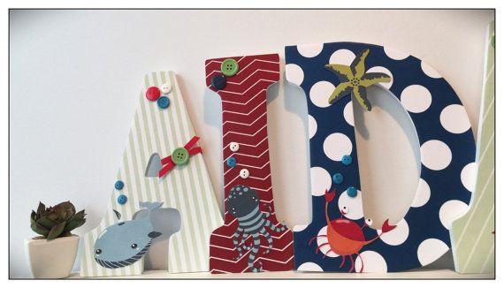 Sea Life Nursery. Sea Creatures.Nursery Letters. Baby by dmh1414