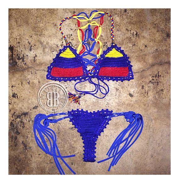 viva venezuela bikini by beijobaby on Etsy