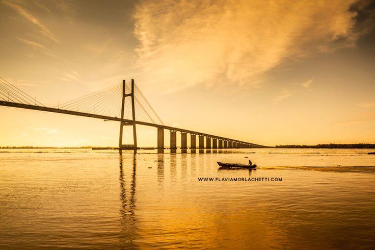 Rosario-Victoria bridge, Rosario, Argentina - {www.flaviamorlachetti.com}