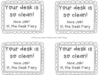 FREE Desk Fairy Coupons ~ Could you use a new reward coupon from the Desk Fairy? My students have a new method of organizing their desks, which involves Diet Coke boxes! As a result, I made a new reward coupon for the Desk Fairy to give the students. {Grades 1-4} and K? #FreeLessons #TpT #TeachersPayTeachers #DeskFairy