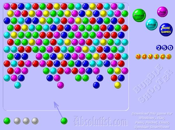 bubble shooter atirador de bolhas
