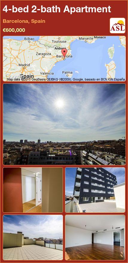 4-bed 2-bath Apartment in Barcelona, Spain ►€600,000 #PropertyForSaleInSpain
