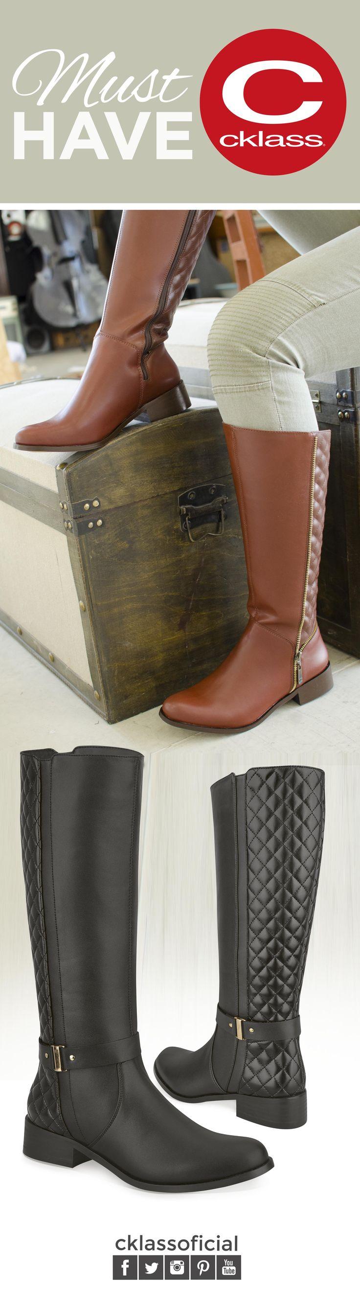 El invierno cada día está más cerca, es por ello que el calzado estrella de la temporada son las botas. Elige aquellas que tengan detalles originales como estas botas #Cklass con detalles metálicos y capitonados  que le darán a tu outfit un toque de #estilo y que te ayudarán a lucir increíble. Conoce la línea completa de la nueva colección de Botas Cklass y encuentra el par perfecto que se adapte a tu estilo.