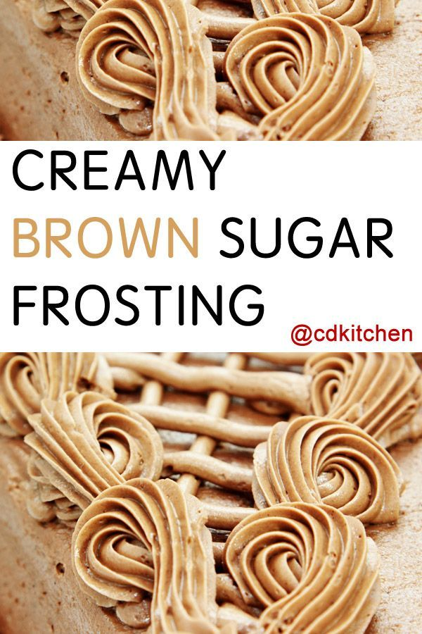 Brown sugar cake frosting recipes