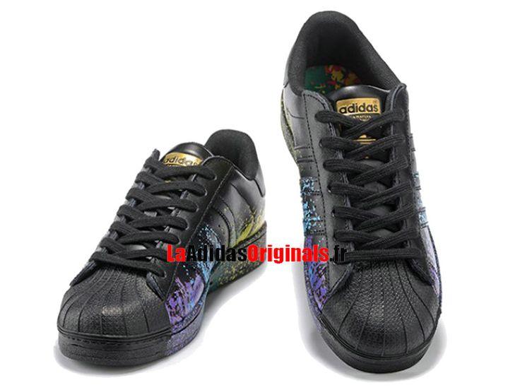 Adidas Superstar Pride Pack LGBT - Chaussure Adidas Originals Pas Cher Pour Homme/Femme Noir D70351g-Boutique Adidas Originals de Running (FR) - LaAdidasOriginals.fr