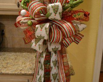 Arbre de Noël fantaisiste ruban arbre Topper