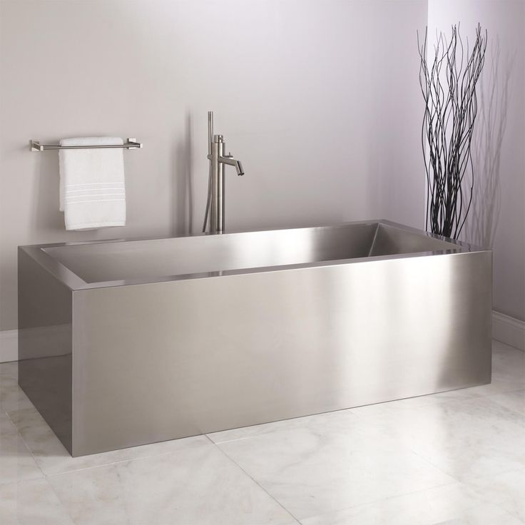 best material for freestanding tub. 72  Ultro Brushed Stainless Steel Freestanding Tub 11 best bathroom images on Pinterest Bathroom designs