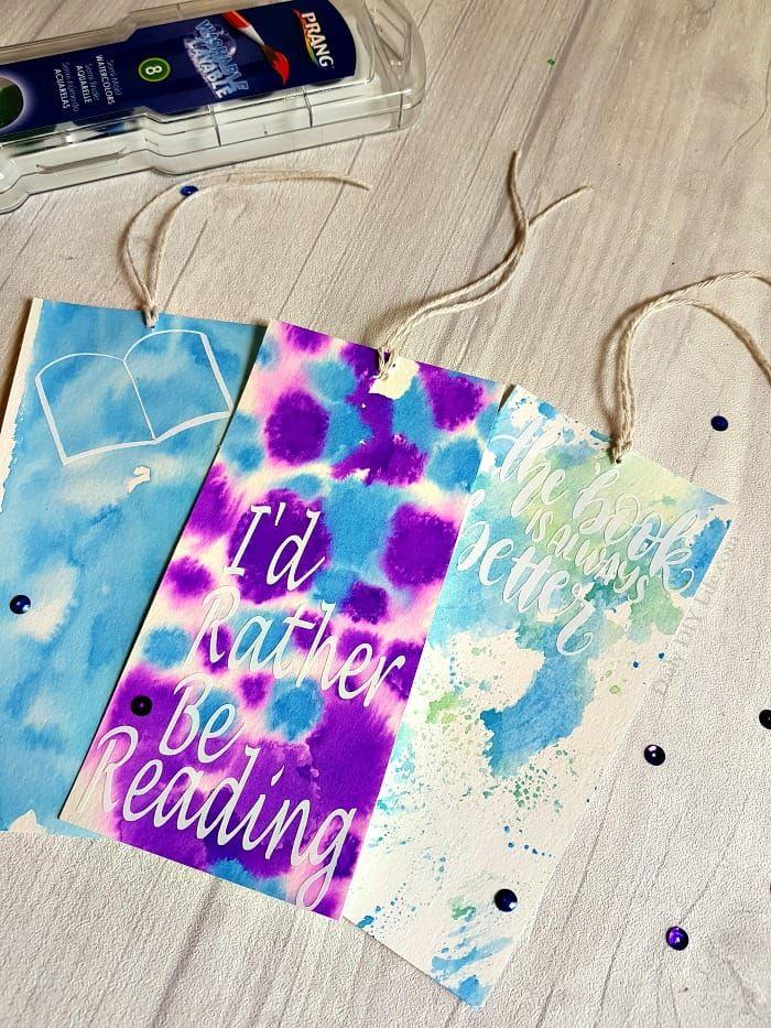 Beautiful Diy Watercolor Bookmarks Using Three Different
