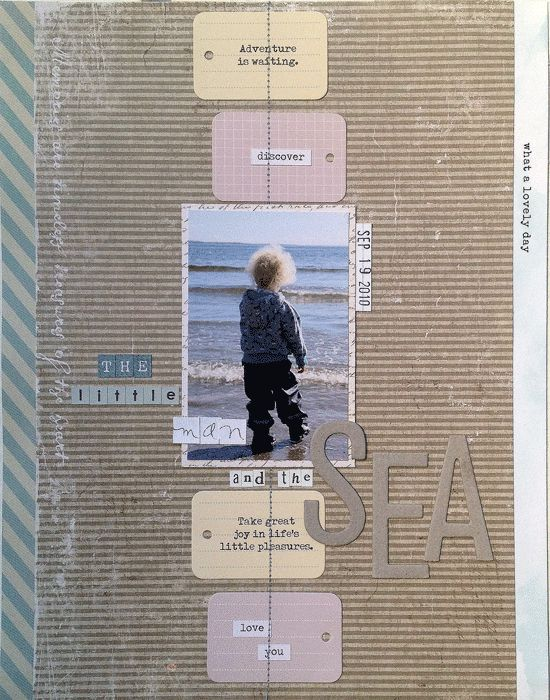 The little man and the sea