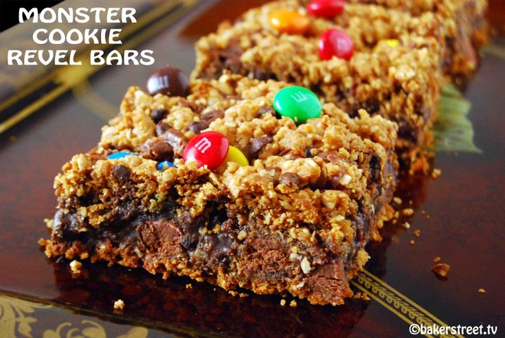 Monster Cookie Revel Bars