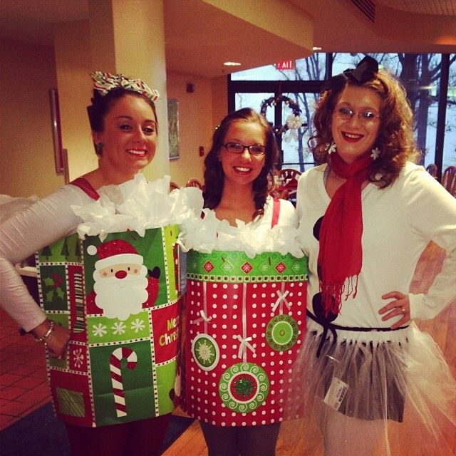 DIY present & snowman costume #christmas
