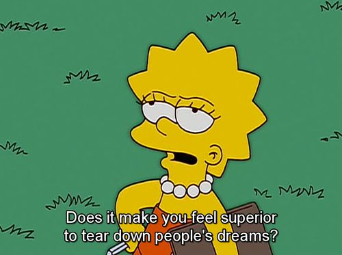 You know what you'd ask Joan Rivers if you ever met her.   29 Signs You're The Lisa Simpson Of Your Family