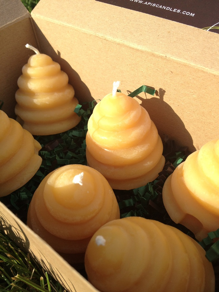 ≗ The Bee's Reverie ≗ Bee Hive shaped Beeswax Votives