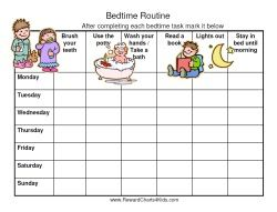 Bedtime Routine Chart to Solve Sleep Issues