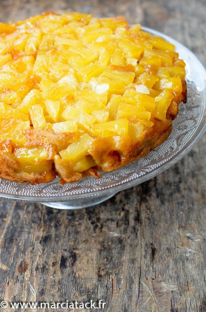 Gâteau renversé à l'ananas caramélisé - Recette - Marciatack.fr : recettes faciles | Tout pour cuisiner !