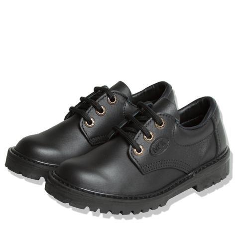 McKinlays Children's Black Leather School Shoes - Delta Junior - School Depot NZ