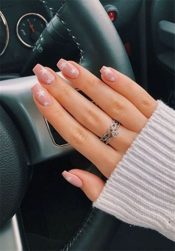 30 Cool Star Nail Art Designs You Will Love In 2020 Star Nail Designs Best Acrylic Nails Summer Acrylic Nails