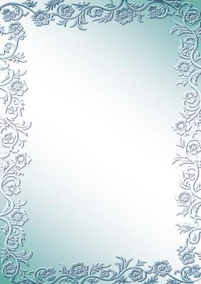Rose Bordered Background Aqua on Craftsuprint designed by June Young - A metallic finish, rose bordered background which can be used for either cardmaking or scrapbooking. Either personal or commercial use is allowed as long as it forms part of your design and is not sold on 'as is'. This is one of 10 matching designs. - Now available for download!
