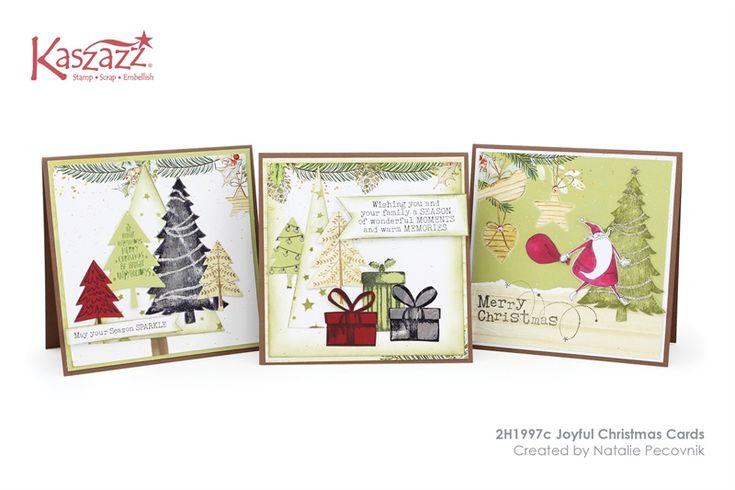 2H1997c Joyful Christmas Cards