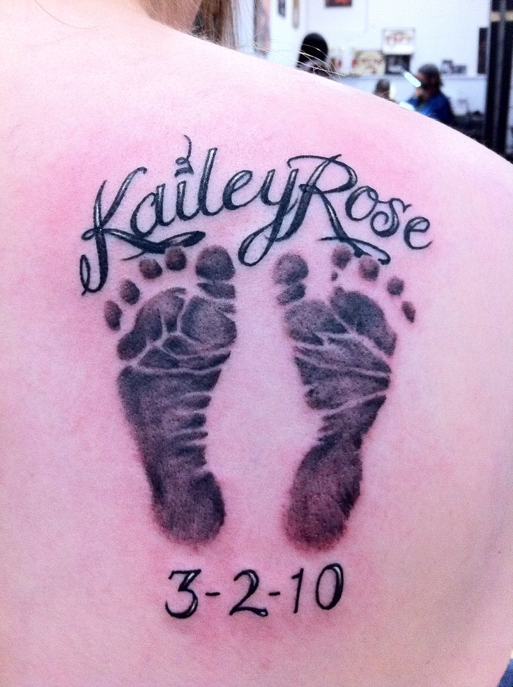 thinking of something like this with 1 of each of my kids footprints