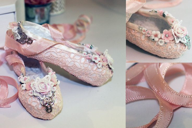 Paper Mache Ballet Slippers + How to - Shabbylishious DT Project