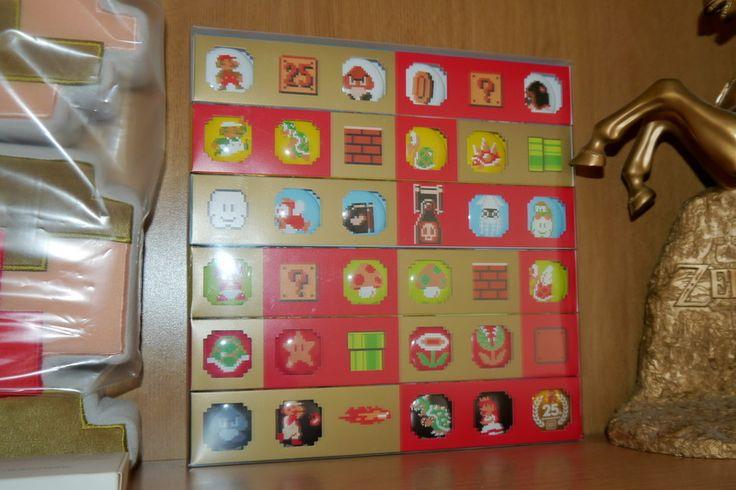 Super Mario 25th Badge set