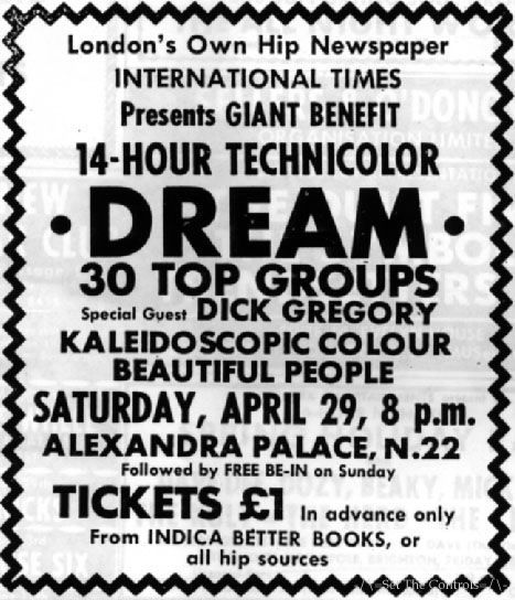 The 14 Hour Technicolor Dream, Alexandra Palace, London, 29th April 1967